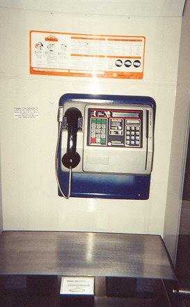 "A credit-card only payphone.  Very hungry - $1.50 for a local call *usually 40c)!  Two keypads: dialing, PIN input</BR></BR><span class=""date-display-single"" property=""dc:date"" datatype=""xsd:dateTime"" content=""1995-11-02T00:00:00+00:00"">Nov 02, 1995</span>"